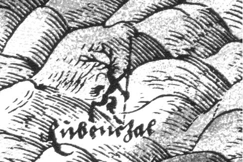 Detail mapy se zobrazením Rübenczala