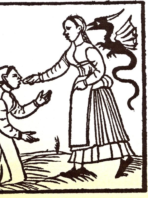 Zlý duch nabádá ženu